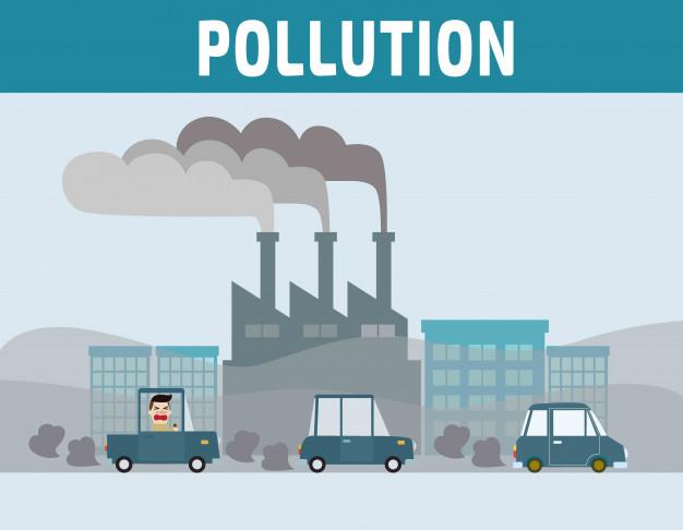 Polusi, asap, pabrik, perusahaan, industri, pencemaran, pemanasan global