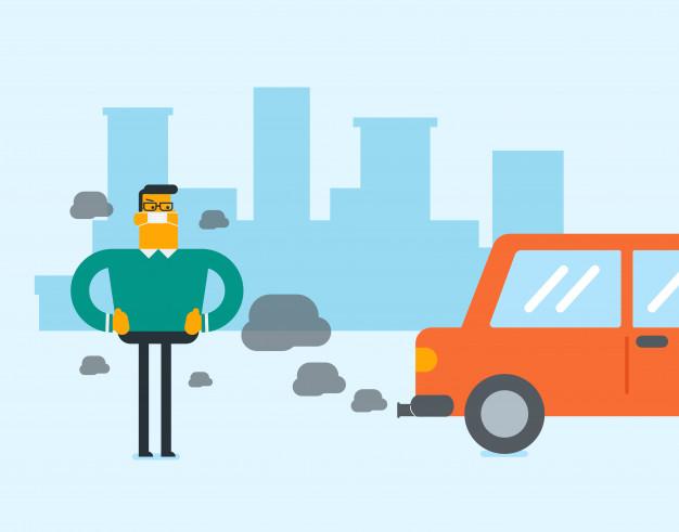 polusi kendaraan, asap,