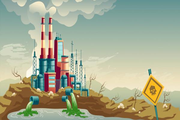 pembuangan gas industri, pabrik, polusi udara, pencemaran, global warming, pemanasan global