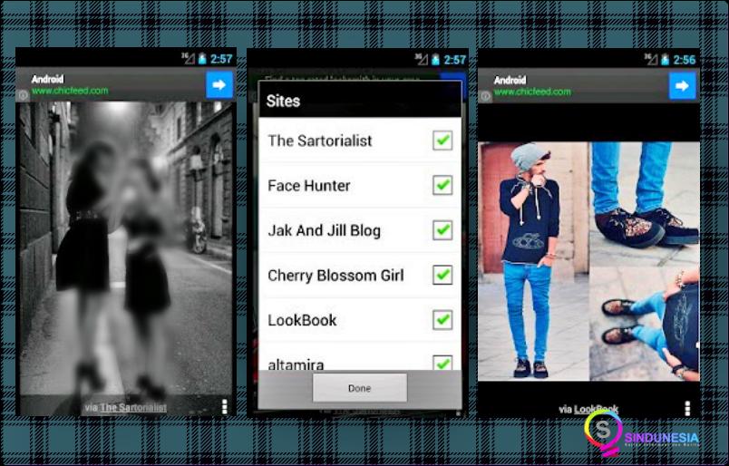 Aplikasi desain baju Chicfeed