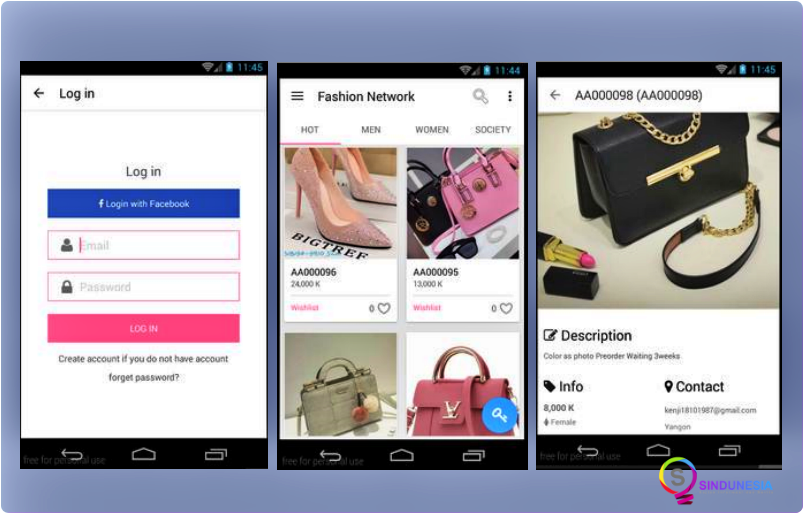 Aplikasi desain baju FASHION NETWORK