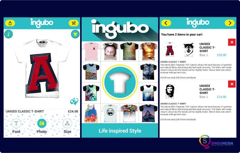 Aplikasi desain baju Ingubo