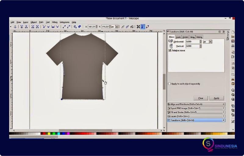 Aplikasi desain baju Inkscape