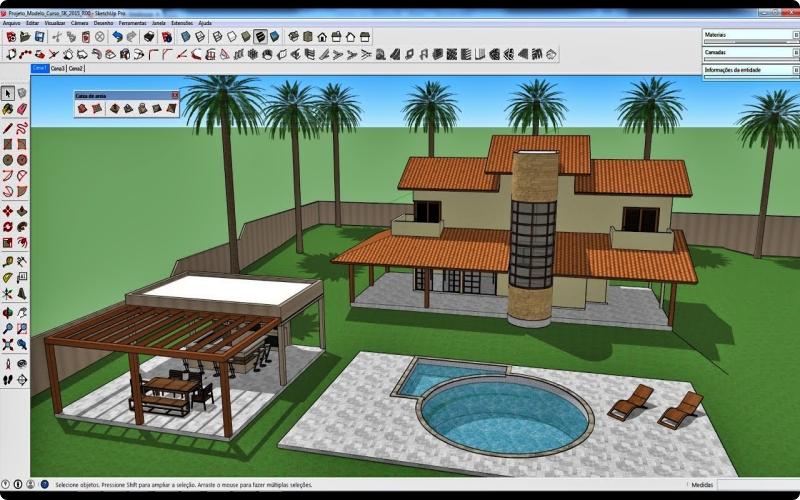 Aplikasi desain rumah SketchUp