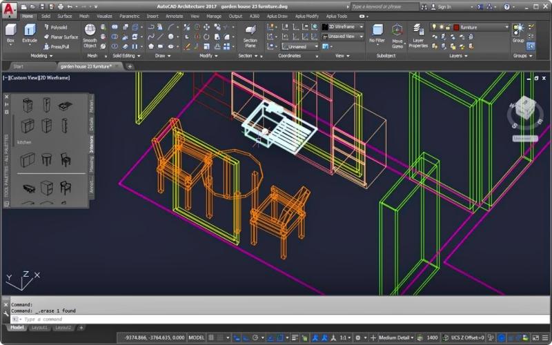 Aplikasi desain rumah utoCAD Architecture