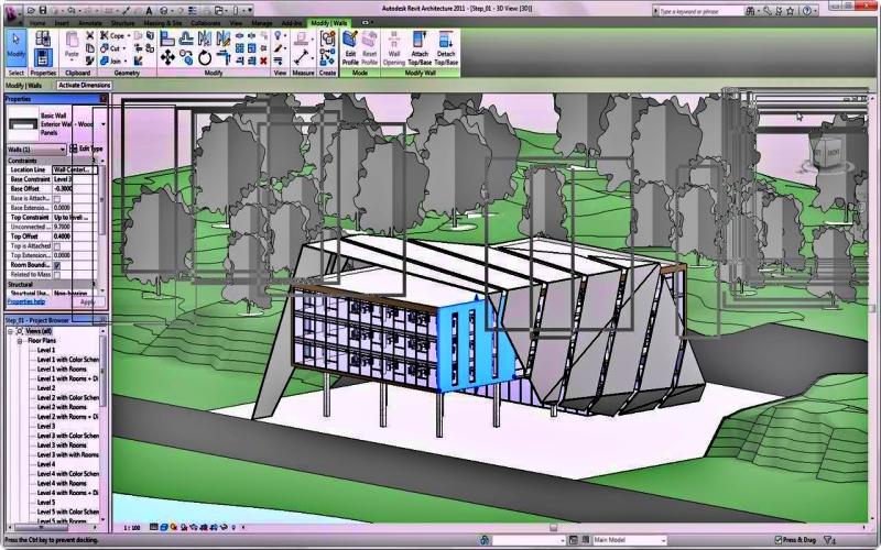 Aplikasi untuk desain rumah Revit Architecture
