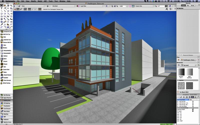 Aplikasi untuk desain rumah Vectorworks Architecture