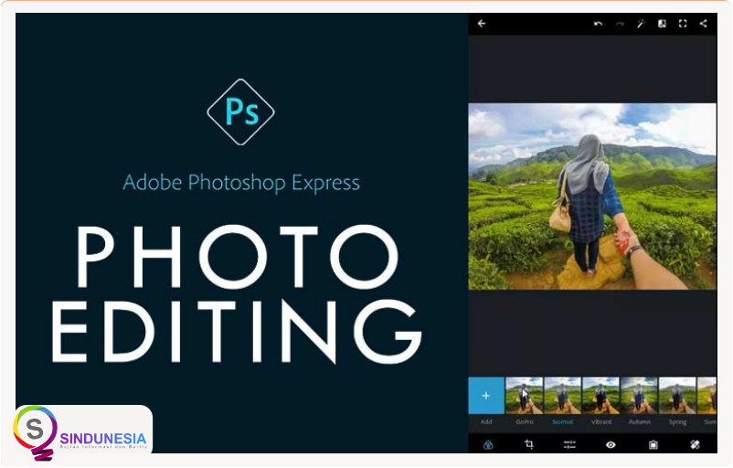 aplikasi edit foto di android Adobe Photoshop Express
