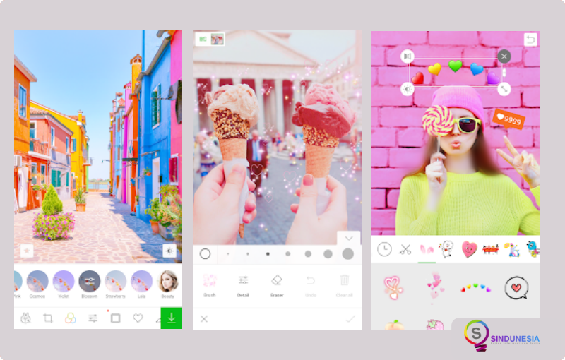 aplikasi edit foto di android LINE Camera