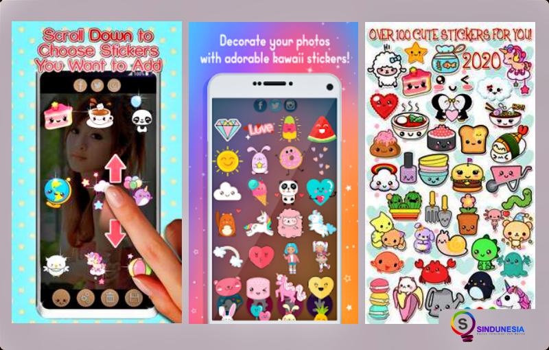 aplikasi edit foto di android Stiker Foto Editor Kawaii
