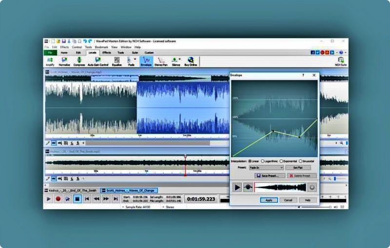 aplikasi-edit-lagu-pc-terbaik WavePad