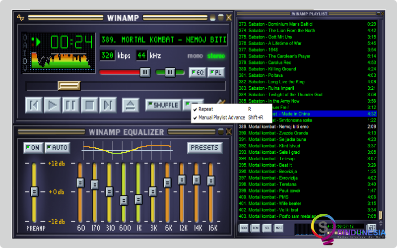 aplikasi karaoke untuk pc CDG Plug-in Winamp