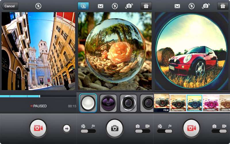 download aplikasi kamera android Fisheye Lens Live