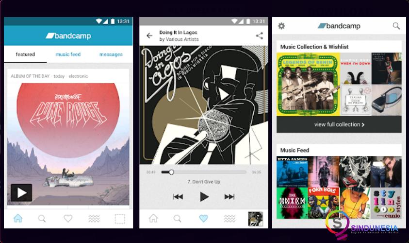 download aplikasi musik android Bandcamp