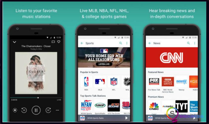 download aplikasi musik android TuneIn Radio