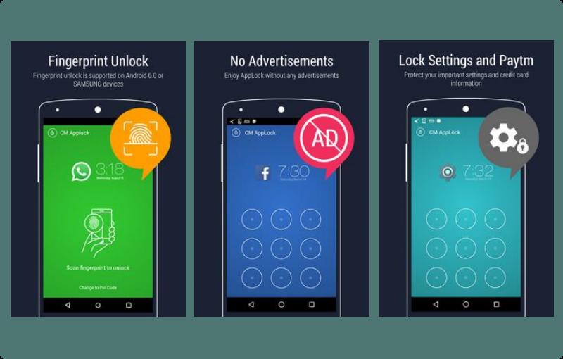 Apliakasi pengunci aplikasi AppLock – Fingerprint Unlock