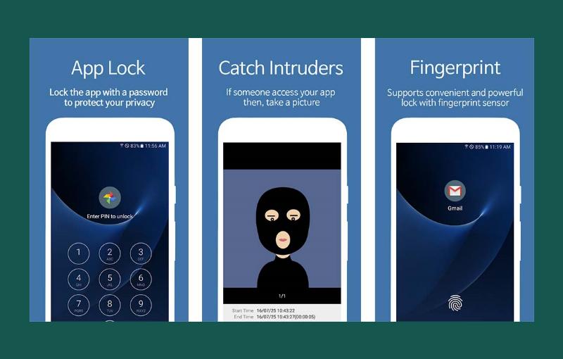 Apliakasi pengunci aplikasi AppLock – Fingerprint