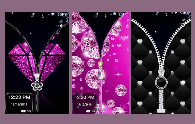 Aplikasi Kunci Layar Diamond Zipper Lock Screen