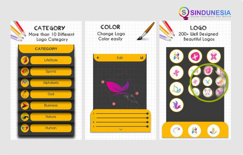 Aplikasi Pembuat Logo Designer Logo Maker