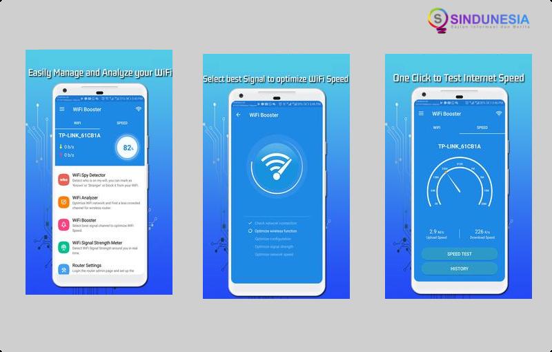 Aplikasi penguat sinyal wifi WiFi Extender