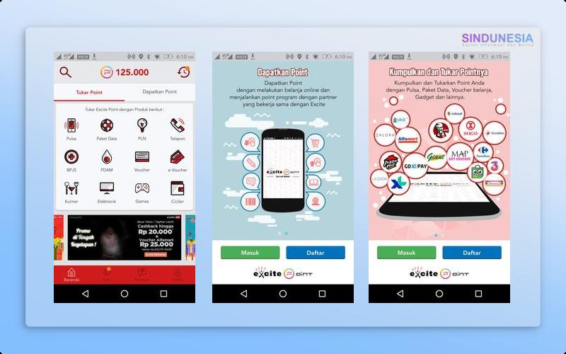 Excite Points Aplikasi Penghasil Pulsa