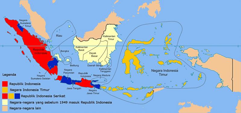 Peta Indonesia bagian Timur