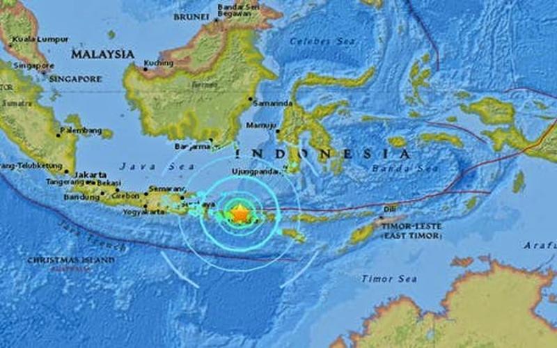 Peta indonesia Bagian Selatan
