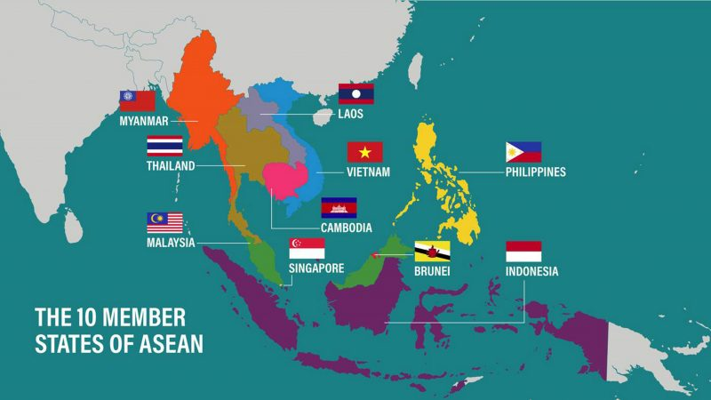 10 negara peta asean