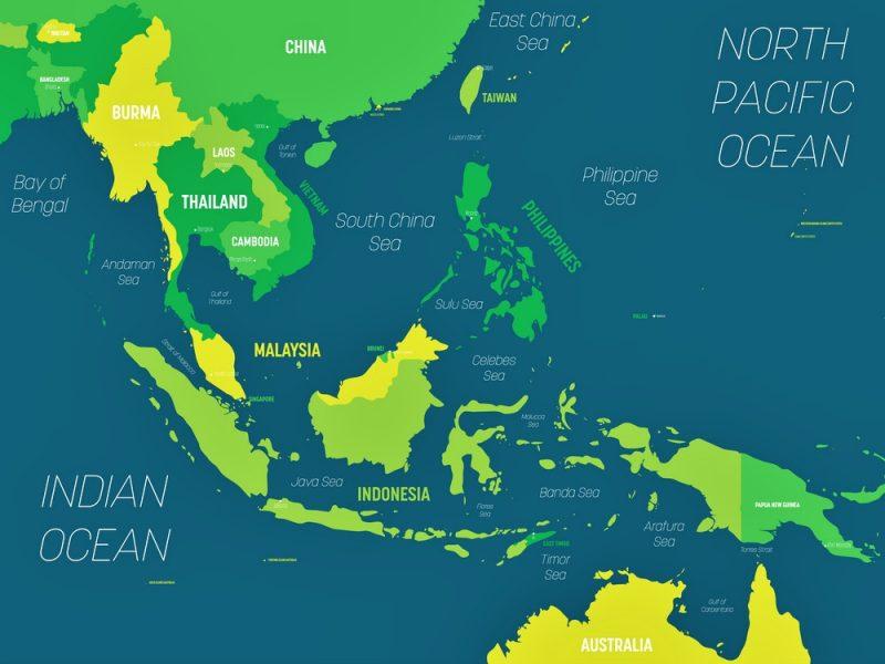 Gambar Peta Asean yang Mudah Digambar