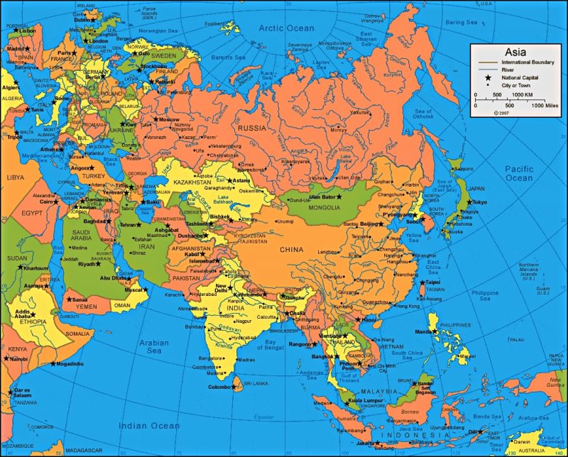 Gambar peta Asia