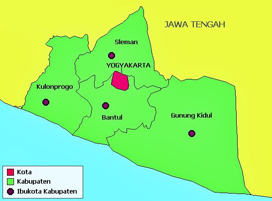 Peta Yogyakarta Vector