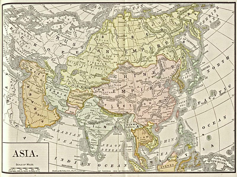 Sejarah pembentukan peta asia