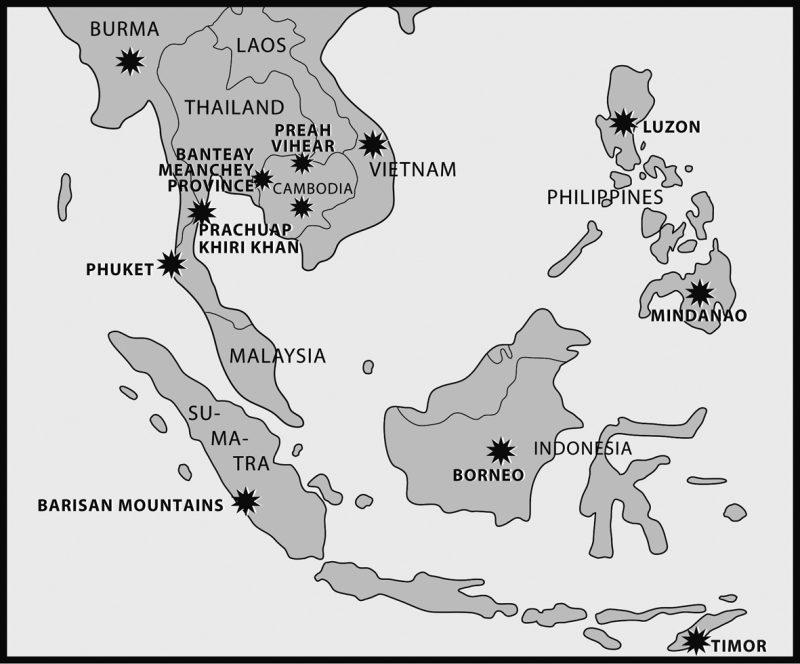 gambar peta Asean hitam putih