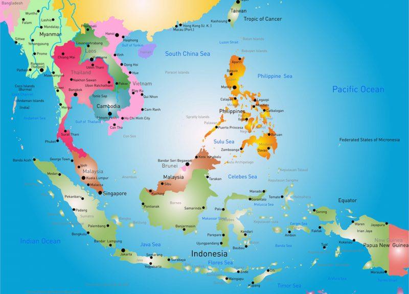 gambar peta Asean