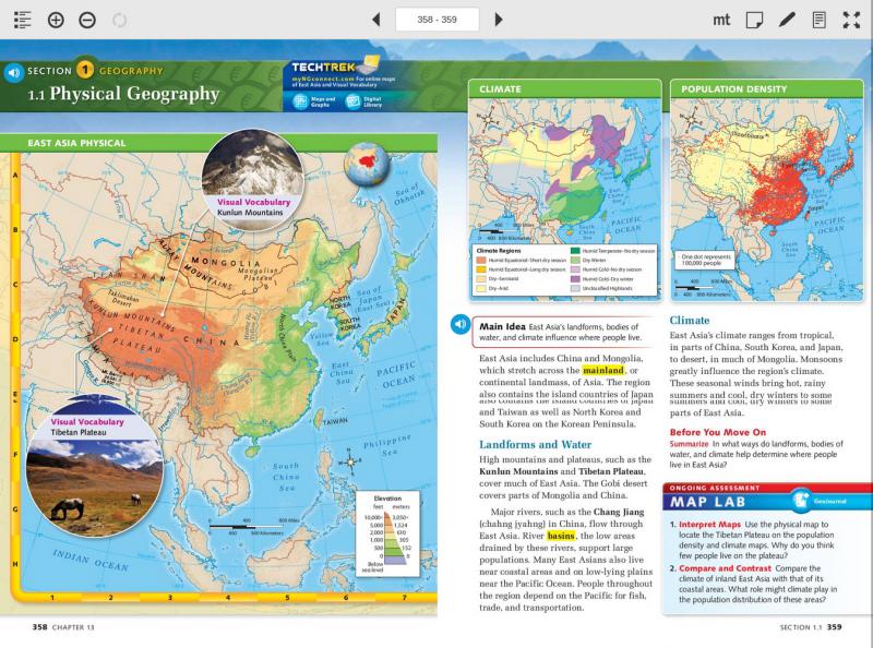 informasi geografis benua asia