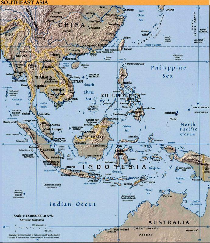 peta Asean Lengkap
