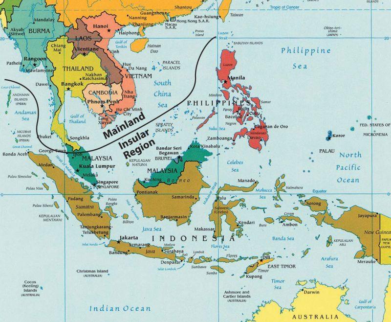 peta asia dan ibukotanya