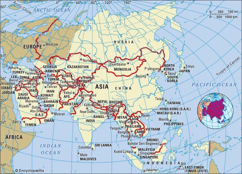 peta asia lengkap