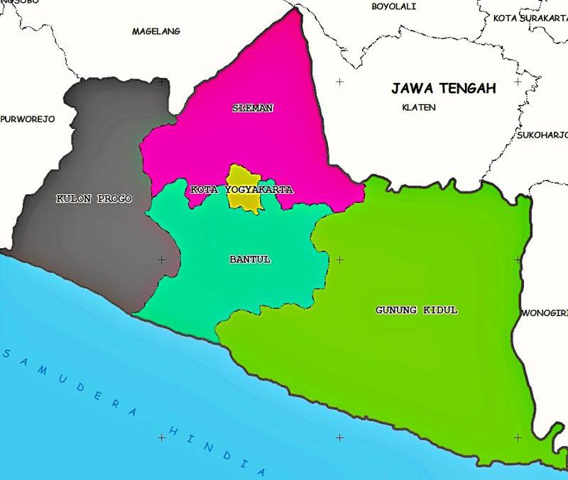 peta yogyakarta dan sekitarnya