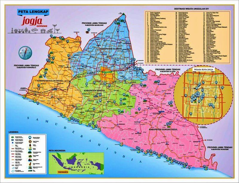 peta yogyakarta lengkap