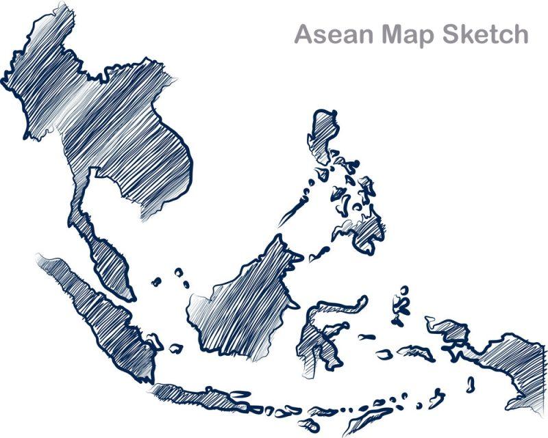 sketsa peta ASEAN