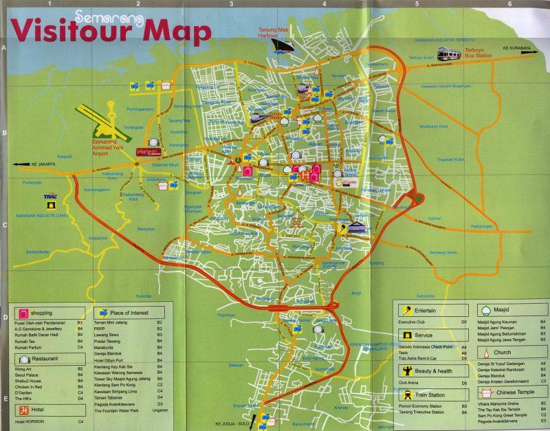 Peta Kota Semarang Lengkap Dengan Nama Jalan