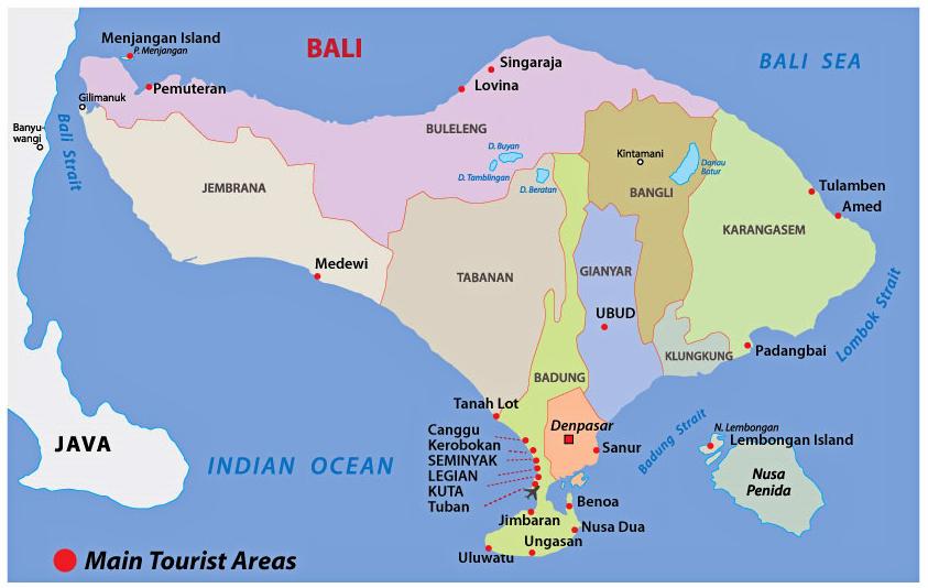 Peta Provinsi Bali
