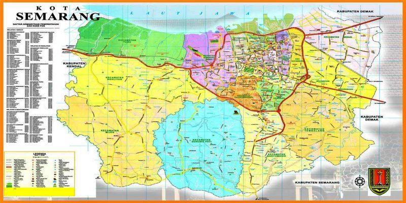 Peta kota semarang jawa tengah