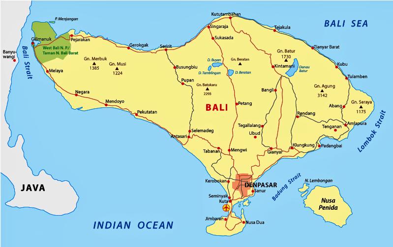 gambar peta bali
