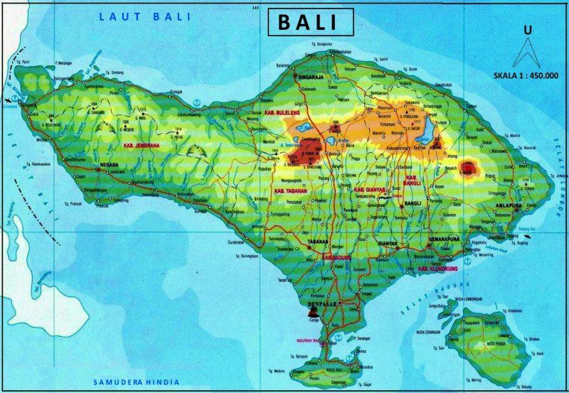 peta bali lengkap