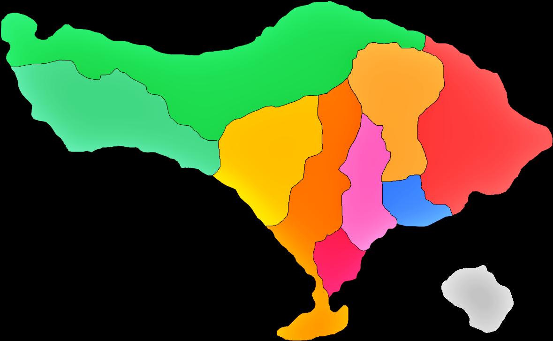 Peta Bali Bali Map Lengkap Sindunesia