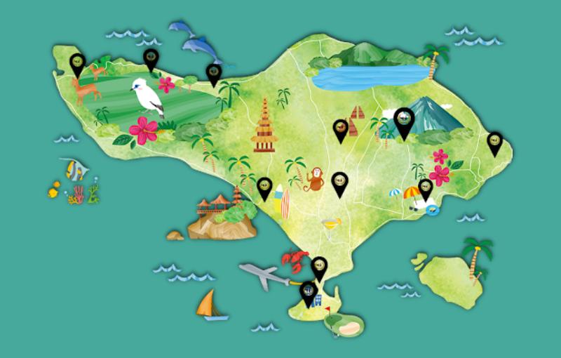 peta bali wisata