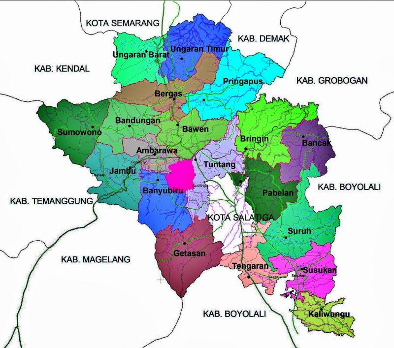 peta kabupaten semarang