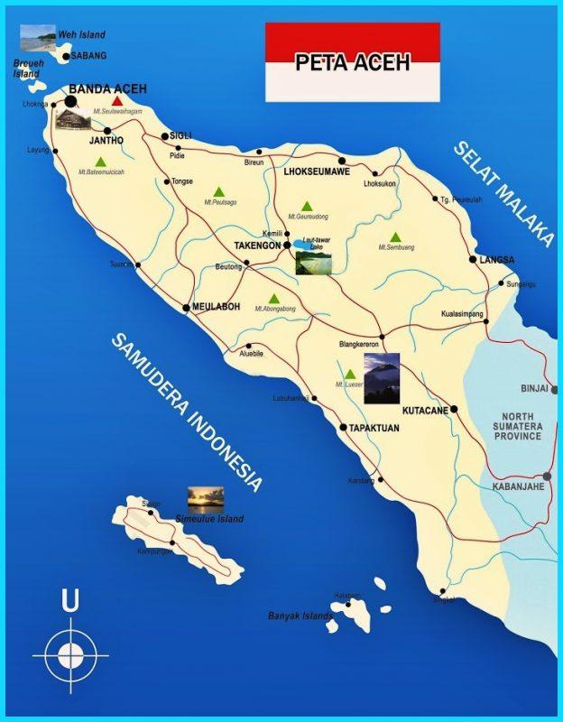 Peta Aceh lengkap
